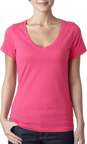 [DEMO] Ladies' Sheer V-Neck Tee